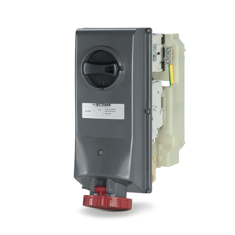 SCAME BASE CON BLOQUEO IP67 3P+N+T 63A